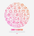 charity and donation concept in circle vector image