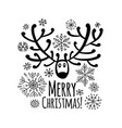 christmas card with ornamental deer for your vector image vector image