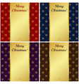 christmas cards with gold banners vector image