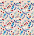 christmas seamless pattern with image vector image vector image