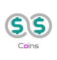 coins logo design element vector image vector image