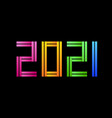 colorful happy new year 2021 celebration greeting vector image vector image