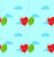 colorful seamless pattern of cute smiling vector image vector image