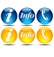 Communication Information icons vector image vector image