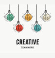 creative teamwork ideas german design concept vector image vector image