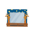 cute photo frame with giraffes album template for vector image