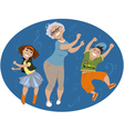 Dancing with grandma vector image