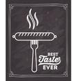 delicious sausage design vector image vector image