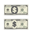 design of one hundred dollar bill vector image vector image
