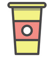 disposable takeaway coffee cup icon design vector image