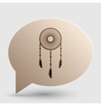 Dream catcher sign Brown gradient icon on bubble vector image vector image