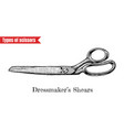 dressmakers shears vector image vector image