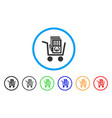 euro cash out cart rounded icon vector image vector image