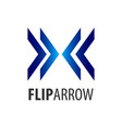 flip arrow logo concept design symbol graphic vector image vector image