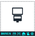 flush bulb icon flat vector image vector image