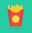 french fries in paper box isolated vector image