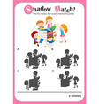 Game template with shadow matching children vector image