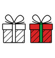 gift icon on white background vector image
