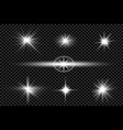 glare on a dark background 1 vector image