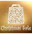 Gold Christmas sale Background EPS 8 vector image vector image