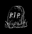 grave flat design vector image vector image
