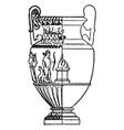 greek vase is a wide-mouthed water jar vintage vector image vector image