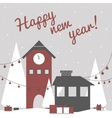 greeting card in modern laconic flat style vector image