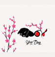 happy chinese new year 2018 card is blossom year vector image vector image