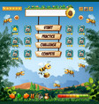 honey bee game template vector image vector image