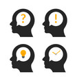 human head brain idea profile person business vector image