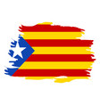 isolated flag of catalonia vector image