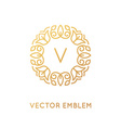 logo design template and monogram concept in vector image vector image