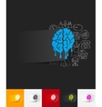 melting paper sticker with hand drawn elements vector image vector image