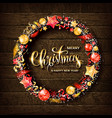 merry christmas gold text for card vector image vector image