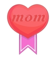 Mothers Day heart icon cartoon style vector image vector image