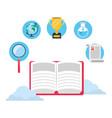 online education elements cartoon vector image vector image