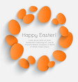 orange eggs happy easter card poster vector image vector image
