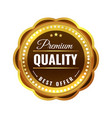 premium quality gold badge sale medal golden vector image