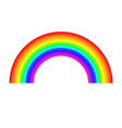 rainbow on white background light spectrum vector image vector image