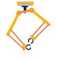 robotic arm hand robot icons set vector image