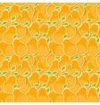 Seamless Pattern Background from Pear vector image vector image