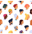 seamless pattern with heads young and elderly vector image vector image