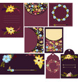 set of beautiful templates for cards wedding vector image vector image