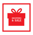 shopping sale red gift box background ima vector image