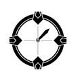 silhouette compass location gps tool travel vector image