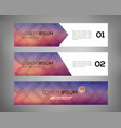 simple geometric banners 01 vector image vector image