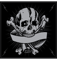 Skull bone cross and Ribbon vector image vector image