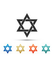 star of david icon isolated on white background vector image vector image