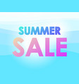 summer sale marine background with sunbeams on vector image vector image