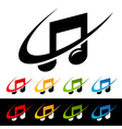 Swoosh Music Note Logo Icons vector image vector image